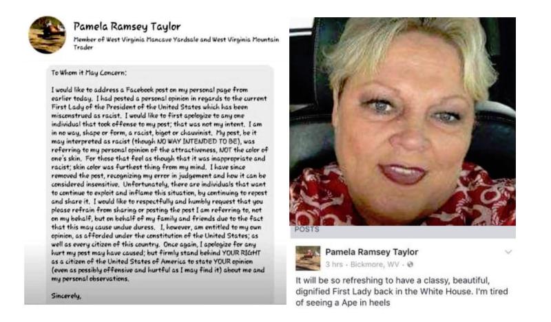 Pamela-Ramsey-Taylor-Michelle-Obama-Racist-Ape