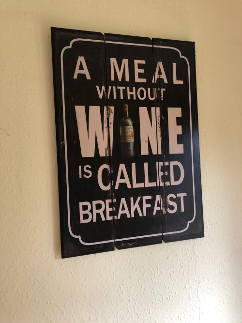 Wine for breakfast - 1